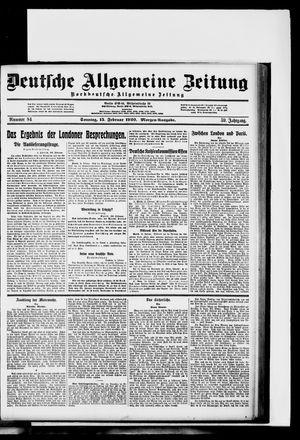 Deutsche allgemeine Zeitung vom 15.02.1920