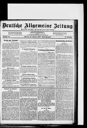Deutsche allgemeine Zeitung vom 16.02.1920