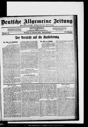 Deutsche allgemeine Zeitung vom 17.02.1920