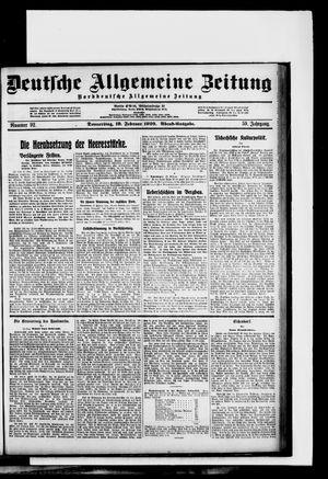Deutsche allgemeine Zeitung vom 19.02.1920