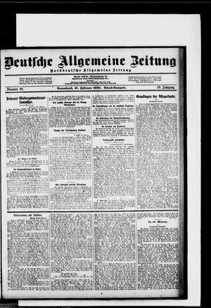 Deutsche allgemeine Zeitung on Feb 21, 1920
