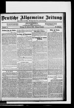 Deutsche allgemeine Zeitung vom 22.02.1920