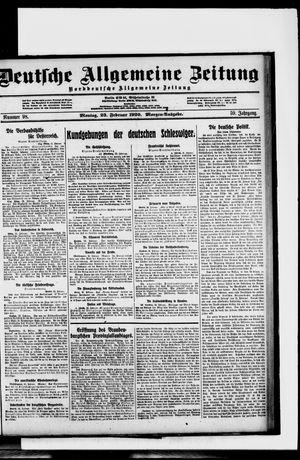 Deutsche allgemeine Zeitung vom 23.02.1920
