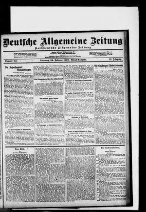 Deutsche allgemeine Zeitung vom 24.02.1920