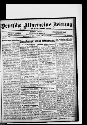 Deutsche allgemeine Zeitung vom 25.02.1920