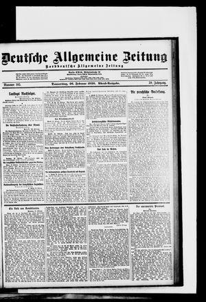 Deutsche allgemeine Zeitung on Feb 26, 1920