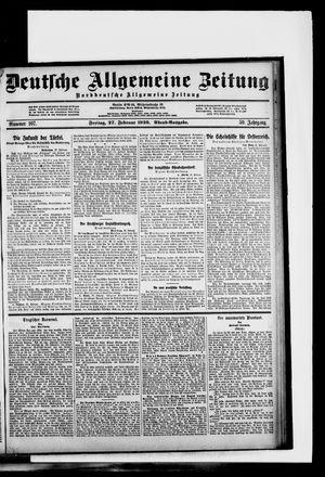 Deutsche allgemeine Zeitung vom 27.02.1920