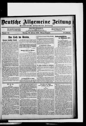 Deutsche allgemeine Zeitung vom 29.02.1920