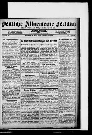 Deutsche allgemeine Zeitung vom 03.03.1920