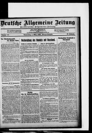 Deutsche allgemeine Zeitung vom 04.03.1920