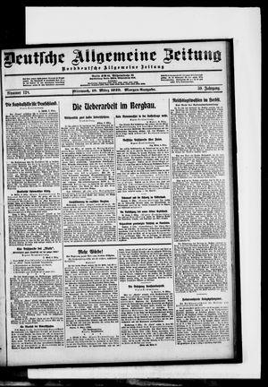 Deutsche allgemeine Zeitung vom 10.03.1920