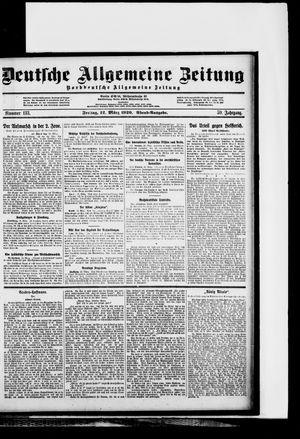 Deutsche allgemeine Zeitung vom 12.03.1920