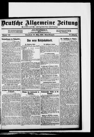 Deutsche allgemeine Zeitung vom 27.03.1920