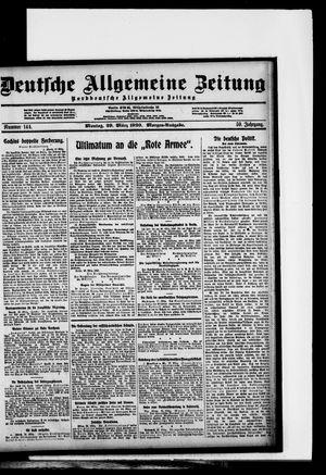 Deutsche allgemeine Zeitung vom 29.03.1920