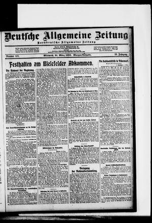 Deutsche allgemeine Zeitung vom 31.03.1920