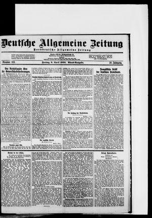 Deutsche allgemeine Zeitung vom 09.04.1920