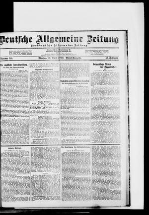 Deutsche allgemeine Zeitung vom 12.04.1920