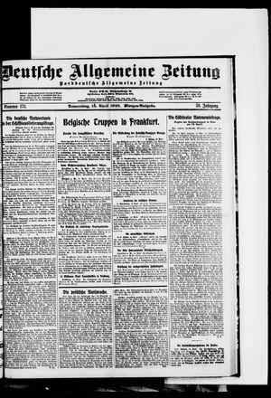 Deutsche allgemeine Zeitung on Apr 15, 1920
