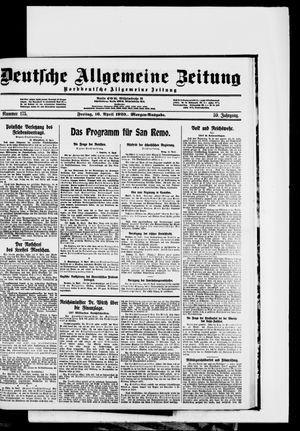 Deutsche allgemeine Zeitung vom 16.04.1920