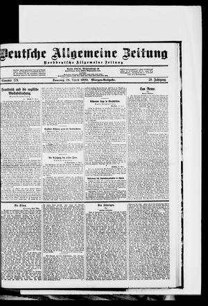 Deutsche allgemeine Zeitung vom 18.04.1920