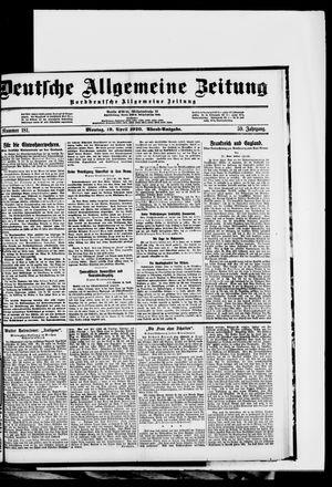 Deutsche allgemeine Zeitung vom 19.04.1920