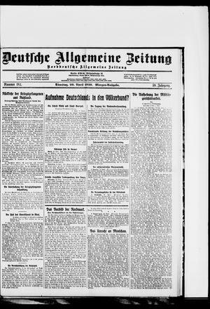 Deutsche allgemeine Zeitung vom 20.04.1920