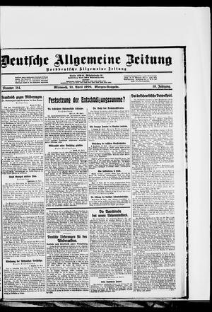 Deutsche allgemeine Zeitung vom 21.04.1920