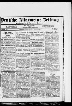 Deutsche allgemeine Zeitung vom 22.04.1920