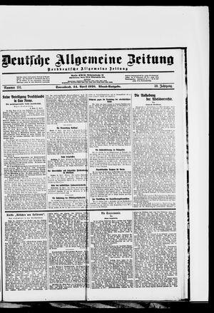 Deutsche allgemeine Zeitung vom 24.04.1920