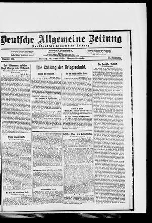 Deutsche allgemeine Zeitung vom 26.04.1920