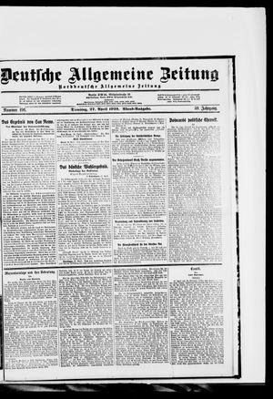 Deutsche allgemeine Zeitung vom 27.04.1920