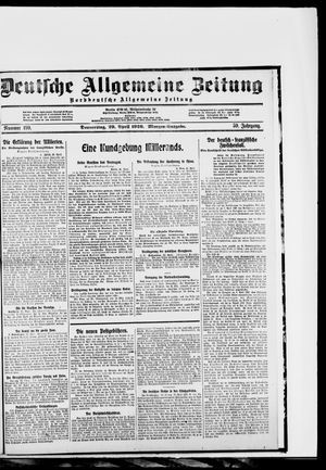 Deutsche allgemeine Zeitung vom 29.04.1920