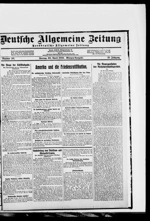 Deutsche allgemeine Zeitung vom 30.04.1920