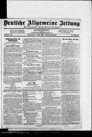 Deutsche allgemeine Zeitung vom 01.05.1920