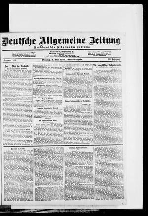 Deutsche allgemeine Zeitung vom 03.05.1920