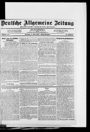 Deutsche allgemeine Zeitung vom 04.05.1920
