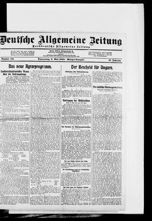Deutsche allgemeine Zeitung vom 06.05.1920