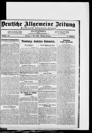 Deutsche allgemeine Zeitung vom 07.05.1920