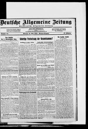 Deutsche allgemeine Zeitung vom 10.05.1920