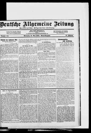 Deutsche allgemeine Zeitung on May 12, 1920