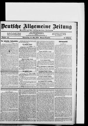 Deutsche allgemeine Zeitung vom 13.05.1920