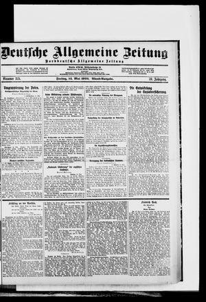 Deutsche allgemeine Zeitung vom 14.05.1920