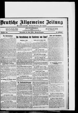 Deutsche allgemeine Zeitung vom 15.05.1920
