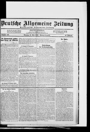 Deutsche allgemeine Zeitung vom 16.05.1920
