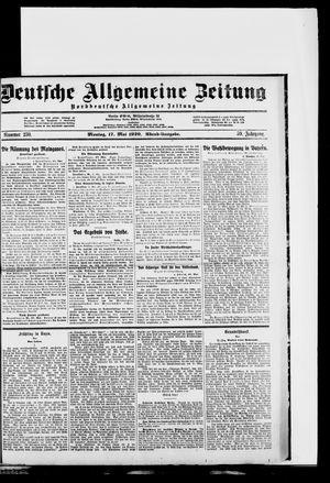 Deutsche allgemeine Zeitung vom 17.05.1920