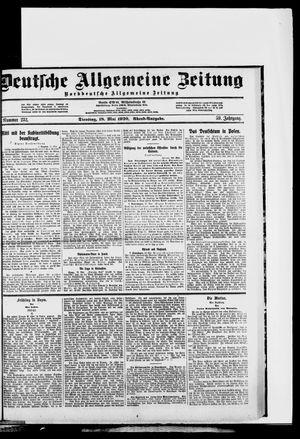 Deutsche allgemeine Zeitung vom 18.05.1920