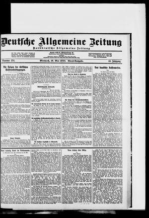 Deutsche allgemeine Zeitung on May 19, 1920