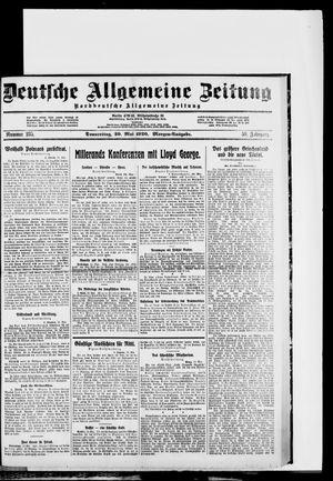 Deutsche allgemeine Zeitung vom 20.05.1920
