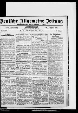Deutsche allgemeine Zeitung vom 22.05.1920