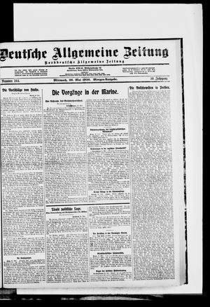 Deutsche allgemeine Zeitung vom 26.05.1920